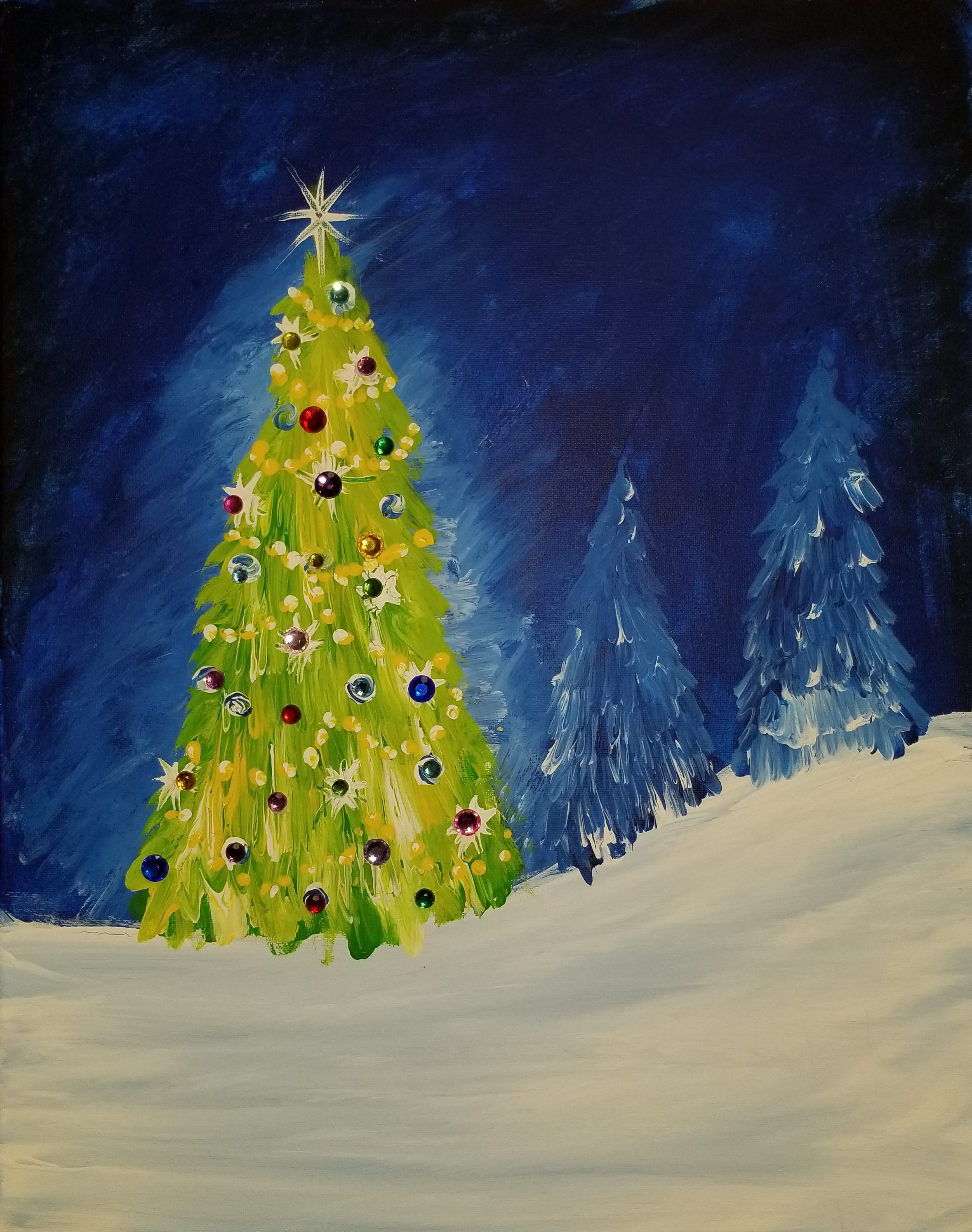 Christmas Tree with Gems- 2 hours