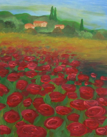 Tuscan Poppie Field- 3 hours