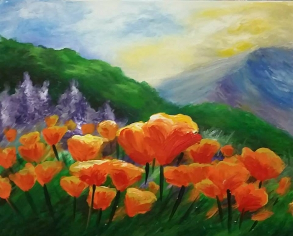 Finger Painting Poppies- 2 hours